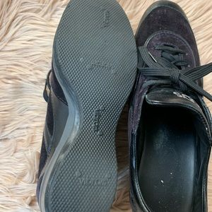 Tod's Shoes - TOD'S | Black Vintage Wedge Sneakers - Size 6.5